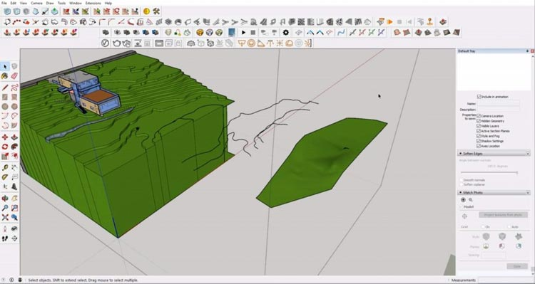 create contours from Sketchup, how to sketchup model maximum, how to efective using sketchup