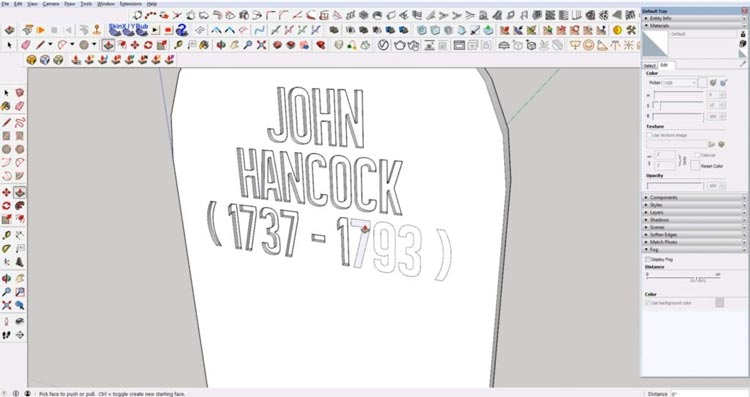 create embedded text in sketchup, make text engraving in sketchup, embedded text in sketchup, sketchup tutorials