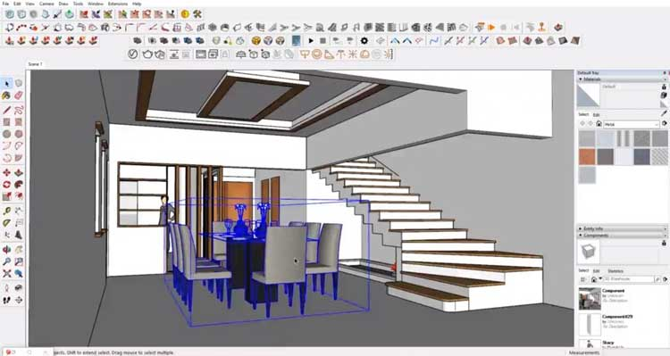 delete components in sketchup, reduce sketchup files, shrink sketchup files size