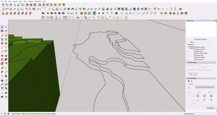delete faces from Sketchup, sketchup models, how to sketchup model maximum, how to efective using sketchup