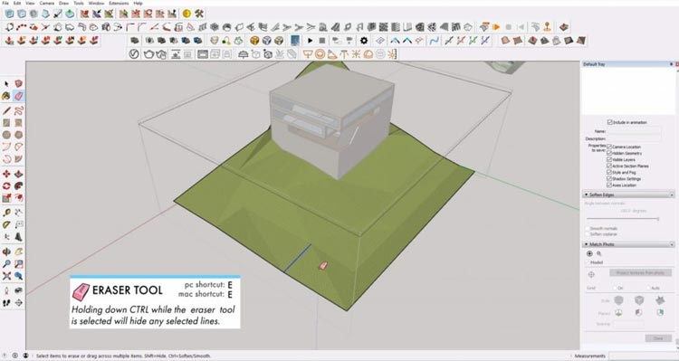 erase lines on Sketchup site model, how to sketchup model maximum, how to efective using sketchup