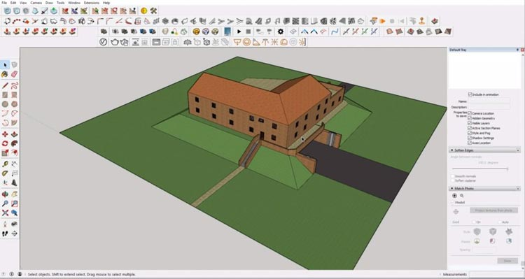 example Sketchup model, how to sketchup model maximum, how to efective using sketchup
