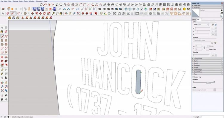 fill in embedded text in sketchup, make text engraving in sketchup, embedded text in sketchup, sketchup tutorials