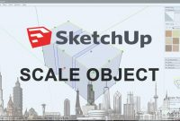 how to determine scale object size in sketchup, size object in sketchup, scale reference sketchup