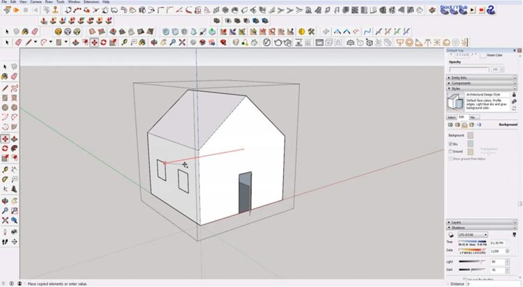 how to use sketchup for beginners, starting sketchup, sketchup tutorials, sketchup for beginners, copy window