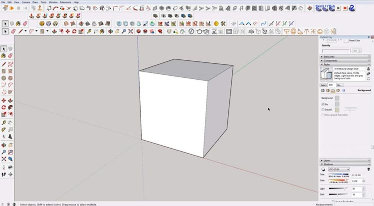 how to use sketchup for beginners, starting sketchup, sketchup tutorials, sketchup for beginners, cube sketchup
