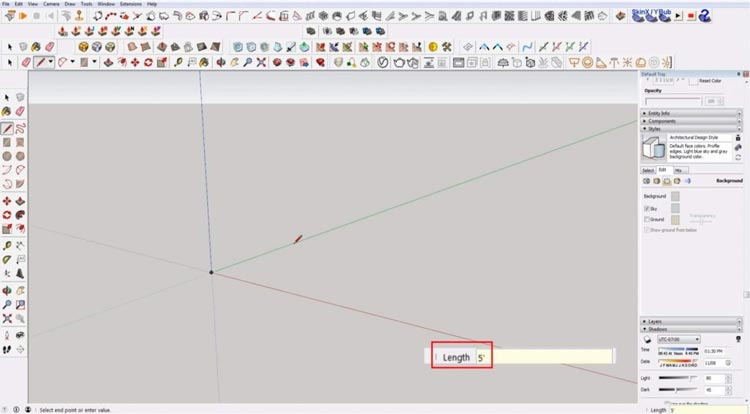 how to use sketchup for beginners, starting sketchup, sketchup tutorials, sketchup for beginners, draw line