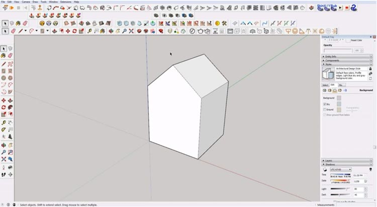 how to use sketchup for beginners, starting sketchup, sketchup tutorials, sketchup for beginners, house building in sketchup