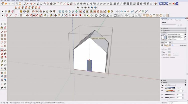how to use sketchup for beginners, starting sketchup, sketchup tutorials, sketchup for beginners, move door
