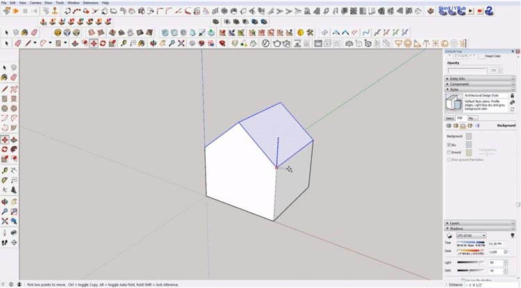 how to use sketchup for beginners, starting sketchup, sketchup tutorials, sketchup for beginners, move house height.jpg