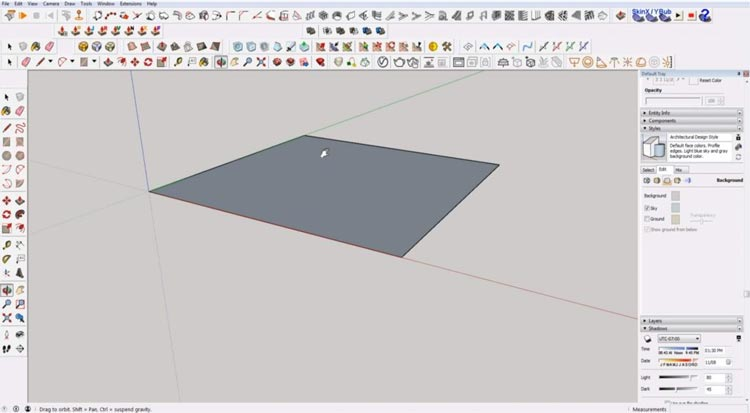 how to use sketchup for beginners, starting sketchup, sketchup tutorials, sketchup for beginners, pan and orbit sketchup