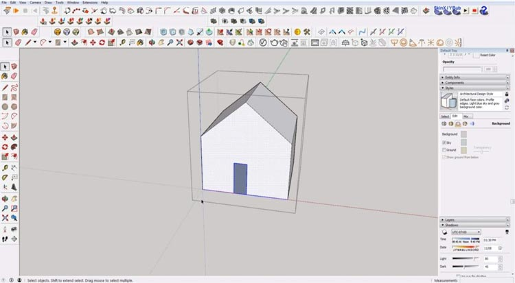 how to use sketchup for beginners, starting sketchup, sketchup tutorials, sketchup for beginners, select everything box touches