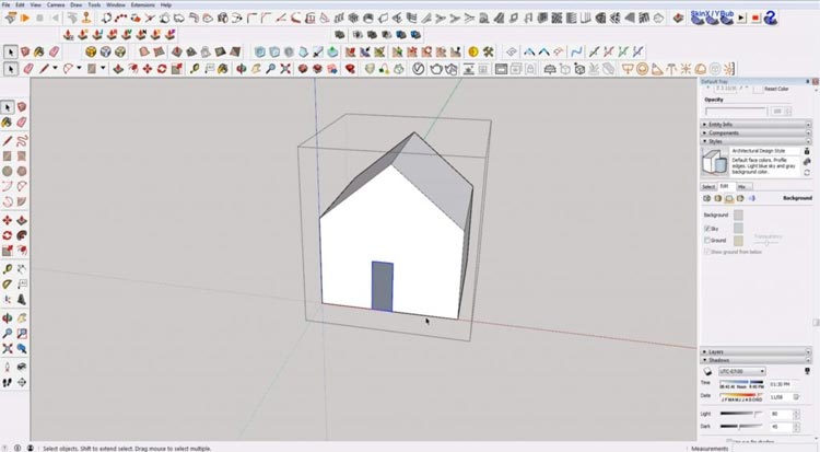 how to use sketchup for beginners, starting sketchup, sketchup tutorials, sketchup for beginners, select within box.jpg