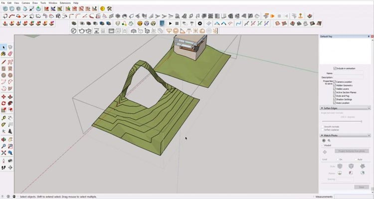 intersect faces of Sketchup site model, how to sketchup model maximum, how to efective using sketchup