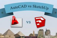 autocad vs sketchup, sketchup vs autocad, which one is easier to use autocad or sketchup, autodesk autocad vs sketchup comparison