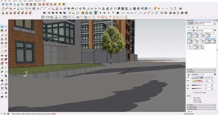 how to remove duplicate shadows in sketchup, duplicate shadow in sketchup, get rid of duplicate shadows in sketchup