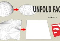 unfold face in sketchup, how to use unfold tool, sketchup extensions, sketchup plugins