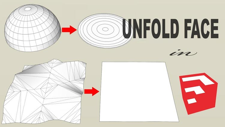 unfold faces, unfold face in sketchup, how to use unfold tool, sketchup extensions, sketchup plugins