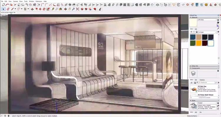 adding detail model, how to quickly interior design in sketchup, how to use lumion, render plugin, rendering model using lumion