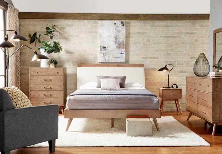 best bedroom ideas with mid-century style, bedroom styles, bedroom inspiration, simple modern mid-century bedroom, bedrooms integrated with nature, beedroom mid-century style